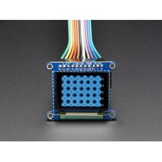 "OLED Breakout Board-16-bit Color 1.27"" w-microSD holder"