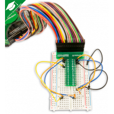 Breadboard Breakout with Ribbon Cable for Analog Discovery