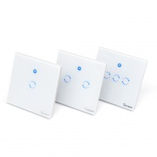 Sonoff T1 UK: 1-3 Gang WiFi & RF 86 Type Smart Wall Touch Light Switch