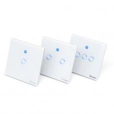 Sonoff T1 UK: 1-3 Gang WiFi & RF 86 Type Smart Wall Touch Light Switch