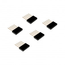 Stackable header - 2.54mm 6 Pin 10mm(Pack of 5)