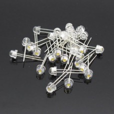 5mm Straw hat LED (5 Pack)-Warm white