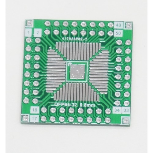 Adapter PCB - SMD to DIP - QFP64/QFN64