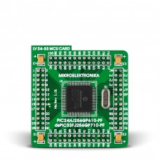 100-pin MCU card with dsPIC33FJ256GP710A