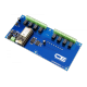 8-Channel 1-Amp SPDT Signal Relay Shield with IoT Interface