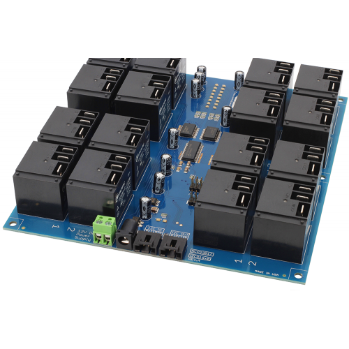 16-Channel High-Power Relay Controller with I2C Interface