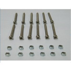 A Set of M5 x 40mm Stainless Steel Inner Hex Head Screw
