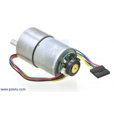 30:1 Metal Gearmotor 37Dx52L mm with 64 CPR Encoder
