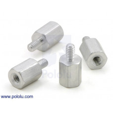 "Aluminum Standoff: 1/4"" Length, 2-56 Thread, M-F (4-Pack)"