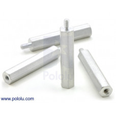 "Aluminum Standoff: 1"" Length, 2-56 Thread, M-F (4-Pack)"