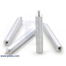"Aluminum Standoff: 1-1/4"" Length, 2-56 Thread, M-F (4-Pack)"