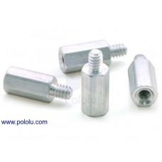 "Aluminum Standoff: 3/8"" Length, 4-40 Thread, M-F (4-Pack)"