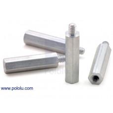 "Aluminum Standoff: 3/4"" Length, 4-40 Thread, M-F (4-Pack)"