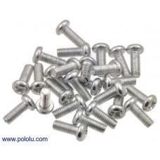 Machine Screw: M2.5, 6mm Length, Phillips (25-pack)