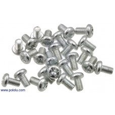 Machine Screw: M3, 5mm Length, Phillips (25-pack)