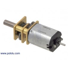 100:1 Micro Metal Gearmotor HP 6V with Extended Motor Shaft