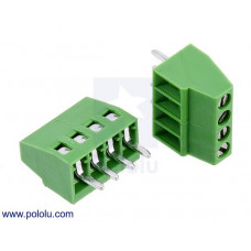 Screw Terminal Block: 4-Pin, 0.1″ Pitch, Side Entry (2-Pack)