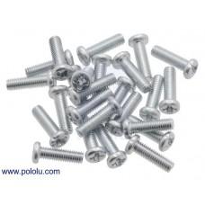 Machine Screw: M3, 10mm Length, Phillips (25-pack)