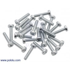 Machine Screw: M3, 14mm Length, Phillips (25-pack)
