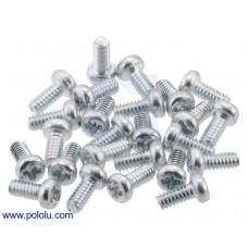 Machine Screw: #2-56, 3/16″ Length, Phillips (25-pack)