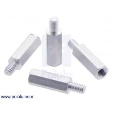 Aluminum Standoff for Raspberry Pi: 11mm Length, 4mm M2.5 Thread, M-F (4-Pack)