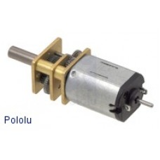 298:1 Micro Metal Gearmotor LP 6V with Extended Motor Shaft