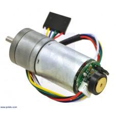 9.7:1 Metal Gearmotor 25Dx48L mm LP 12V with 48 CPR Encoder