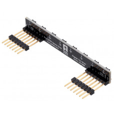 8-Channel QTRX Sensor Array for Romi/TI-RSLK MAX (Through-Hole Pins Soldered)
