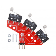 Right Bumper Switch Assembly for Romi/TI-RSLK MAX (Through-Hole Pins Soldered)