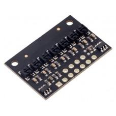 QTRX-HD-07RC Reflectance Sensor Array: 7-Channel, 4mm Pitch, RC Output, Low Current