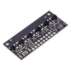 QTRX-MD-06RC Reflectance Sensor Array: 6-Channel, 8mm Pitch, RC Output, Low Current