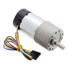 100:1 Metal Gearmotor 37Dx73L mm 24V with 64 CPR Encoder (Helical Pinion)