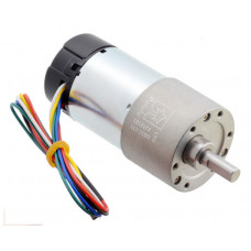 131:1 Metal Gearmotor 37Dx73L mm 24V with 64 CPR Encoder (Helical Pinion)