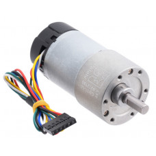 50:1 Metal Gearmotor 37Dx70L mm 12V with 64 CPR Encoder (Helical Pinion)