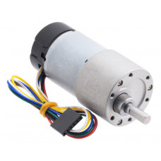 100:1 Metal Gearmotor 37Dx73L mm 12V with 64 CPR Encoder (Helical Pinion)
