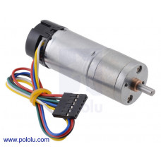 34:1 Metal Gearmotor 25Dx67L mm HP 12V with 48 CPR Encoder
