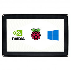 10.1inch Capacitive Touch Screen LCD (H) with Case, 1024×600, HDMI, Various Systems Support