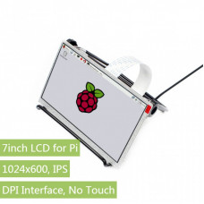 7inch IPS Display for Raspberry Pi, DPI interface, no Touch, 1024x600