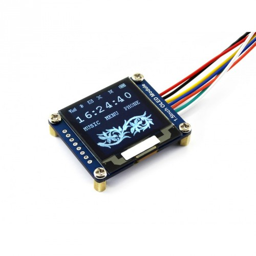 1.5inch RGB OLED Display Module,128x128 Pixels 16-bit high Color 65K Colors SPI Interface with Examples for Raspberry Pi//Jetson Nano//Arduino//STM32