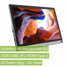 15.6inch Universal Portable Touch Monitor, 1920×1080 Full HD, IPS, HDMI/Type-C